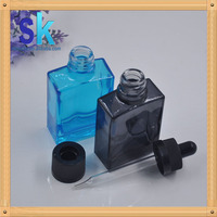 unicorn glass bottle 30ml with pipette 30ml square glass bottle