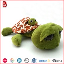 Mother and baby sea turtle plush toy with squeaker