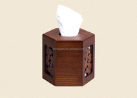 Round wood tissue box with high quality