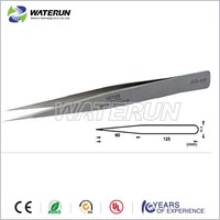 Vetus AA-SA stainless steel pointed precision tweezers