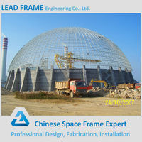 aesthetic light space frame dome roofing structure