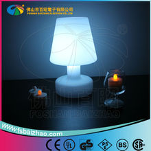 LED lighting plastic small table light with CE, ROHS