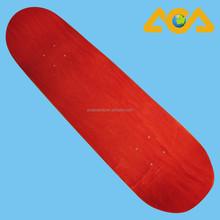Pro Skateboard Manufactureres make Red Stained Skateboard Deck
