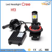 New accessories 5000K led light 25W 12v H13 hi/lo led headlight, Led Motorcycle headlight bulbs,ultra bright 1800LM H13 led kit