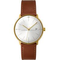 Casual Genuine Leather De Longe Quartz Movement Gold Plated New Style Ladies Watch
