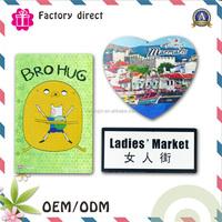Printing logo different shapes 3d soft rubber souvenir fridge magnet