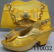 New arriving Italian shoes and bag/High quality african shoes and bags to match women