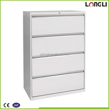Office furniture 4 drawer lateral filing cabinets for foolscap files storage