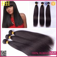 New products 2015 large stocks fashion yaki human hair machine weft hair