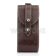 High Quality Brown Genuine Leather Golf Bag for Pitchfork/Golf balls/Golf Tees