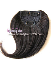 2015 New 100% Remy Human Hair Bangs, Human Hair Fringe, Clip in Natural Hair Bang Pieces