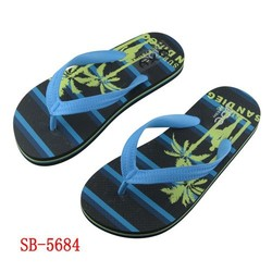 2014 Hot selling Boys pe slipper with rubber strap