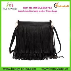 new fashion tassel shoulder bags women leather fringe bags
