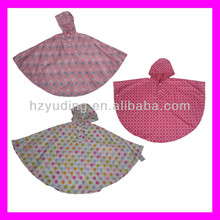 Good quality 100% polyurethane rain poncho for kids factory directly