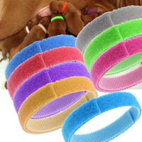 "3/8"" welcro Kitten ID Collar Litter Bands 12 colors hook and loop"