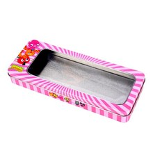 tin box with PET/PVC window for gift packaging wholesale CD-018