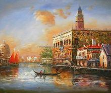 Handmade Venice Building canvas picture