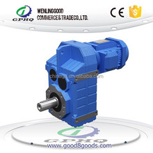 GPHQ Competitive price output solid shaft F Parallel Shaft Helical Gearbox for agitator
