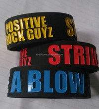 debossed ink fill silicone wristbands,exported to Japan debossed ink fill silicone wristbands
