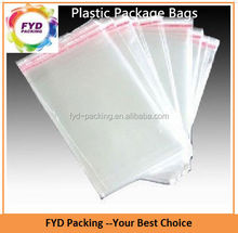 Customized sizes clear PE plastic bag for packing