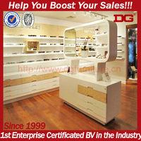 Store display design floor standing wood furniture optical frame displays stand