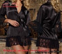 Feitong Hot sale Ladies Women Sexy Lingerie Underwear Sleepwear Nightwear Mini Black Dress +G-String sexy babydoll lengerie whol