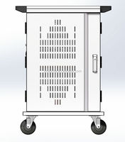 ZMEZME tablet storage and charging cart sync battery charger cart for 20 outlets