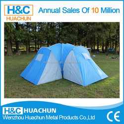High quality customized 3 room extra large luxury camping tent