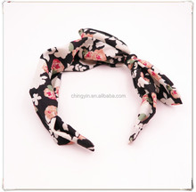 2015 Latest Fashionable Floral Print Bow Headband Hair Accessories for Girls and Women