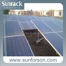 aluminum solar panel mounting bracket for power plant installation