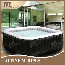 MSpa Inflatable Spa pool, Hot Tub Alpine M-019LS,portable hot spa ,6person,square