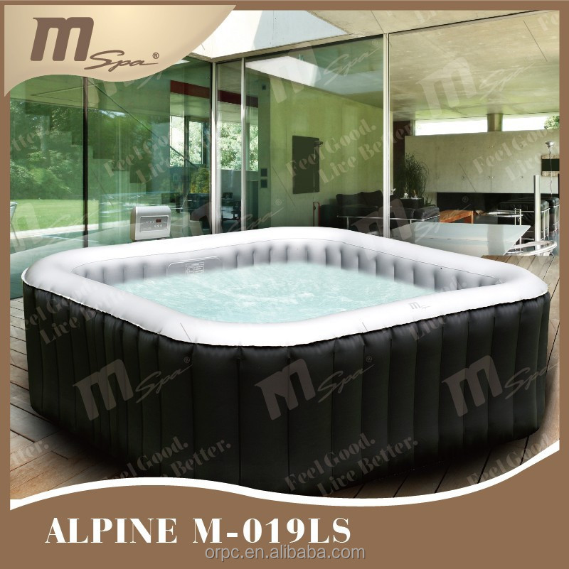 tragbare aufblasbaren spa pool platz whirlpool sprudelbad. Black Bedroom Furniture Sets. Home Design Ideas