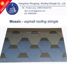 alibaba china manufacturer mosaic hexagonal asphalt shingle price, roofing shingle price, roof tile price