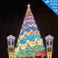 Giant Decorated Christmas Tree Holiday Decoration Rope light Decor Christmas Tree