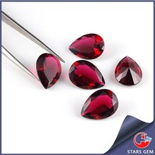 the rose red competitive price oval shape glass beads