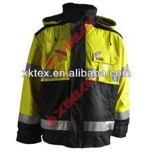 de seguridad modacrylic chaqueta a prueba de viento con la industria para ropa de trabajo