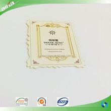 China labels and hang tags maker, custom cheap greeting card, name tag and paper hang tag