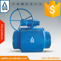 TKFM factory directly sale worm gear operate plumbing valves types and uses fully welded ball valve