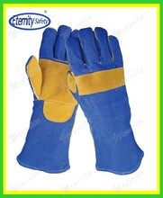 Best service supplier sales quality safety full or double palm oil field welding glove