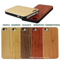 hybrid rubber carbonized wood cover for iphone 5s wood case,shockproof phone case for iphone 5s