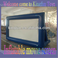 Airtight inflatable movie screen yard