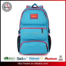 2015 good quality new design backpack with many pockets for high school student