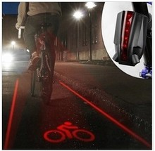 Bicycle Tail Lights with 5LED laser light Logo,Super Cool Smart Cycling Bike Light,Logo Version