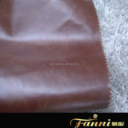 T/C backing sofa leather fabric/TC backing synthetic leather