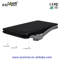 2015 mobile power supply 6000 mah power bank external battery slim powerbank built in cable