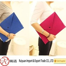 2015 Alibaba wholesale durable convenient felt folder witt different color