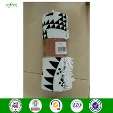 reactive print cotton 1500mm tassel round towel beach