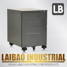 Laibao mobile 3 drawer steel fill cabinet/ modern cabinet/ small office cabinet