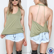 guangdong wholesale cheap custom blank tank top racerback burnout tank top