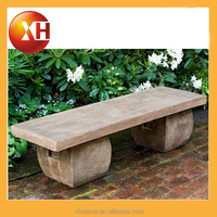 Natural stone garden bench with umbrella for outdoor furniture